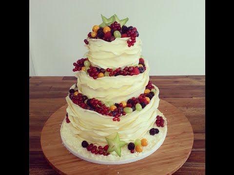 Dreistockige Fruchtige Hochzeitstorte Ohne Fondant Deko Idee Mit