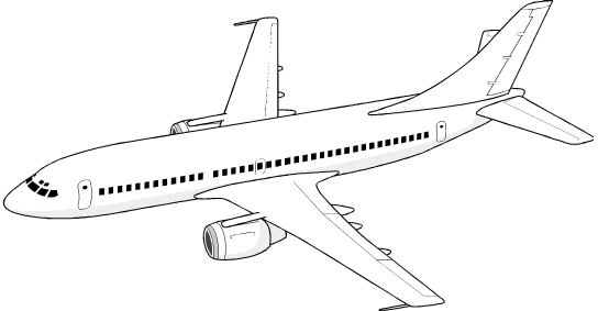 Airplane clip art free