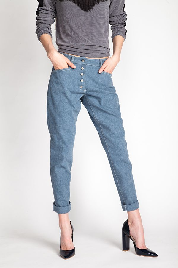 Wyome Boyfriend Jeans | Patterned jeans, Named clothing