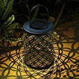 MOOUK LED Solar Laterne Vintage Hollow Eisen Design Außen Dekorativ Hängend Ga..., #Außen #Dekorativ #Design #Eisen #Hängend #Hollow #Laterne #LED #MOOUK #Solar #Vintage