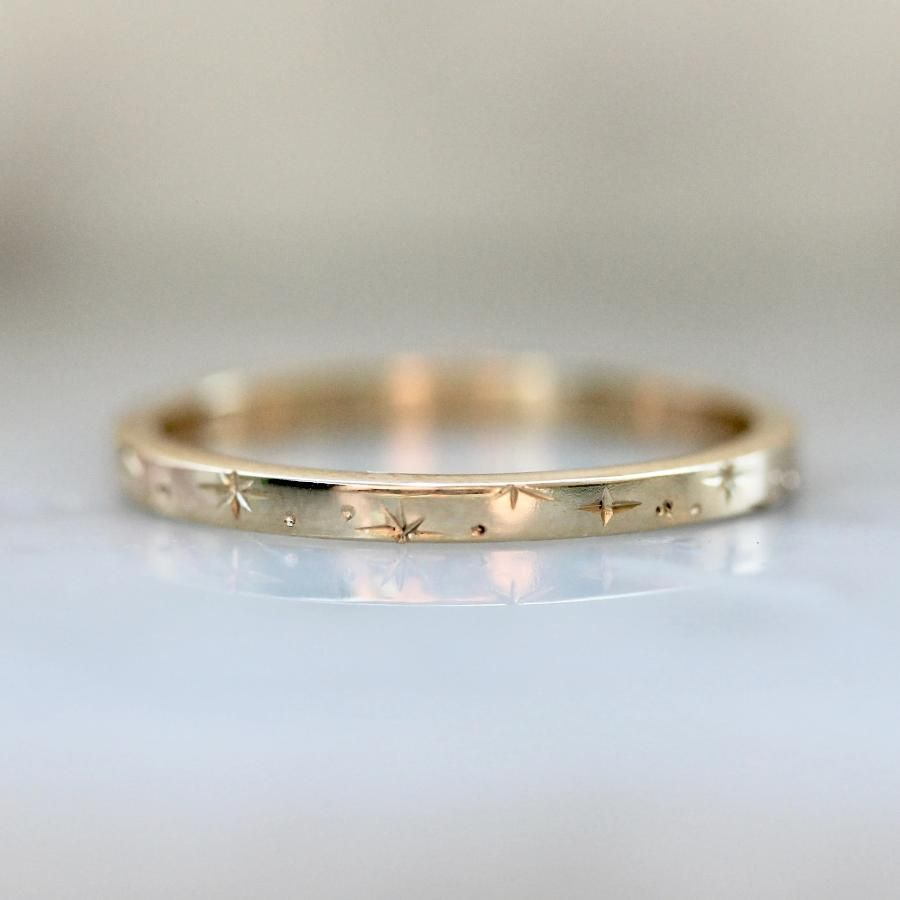 Or Or Star Grave Bande In 2020 Gold Wedding Band Diamond Wedding Bands Pearl Wedding Bands