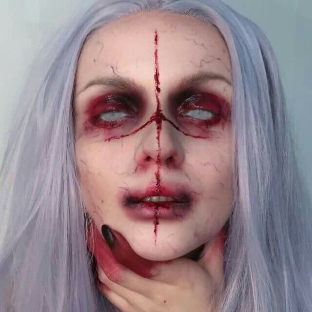 maquillaje de caracterizacion carnavales disfraces maquillaje demonio maquillaje para disfraces maquillaje facial completo maquillaje casa encantada - Maquillaje Demonio