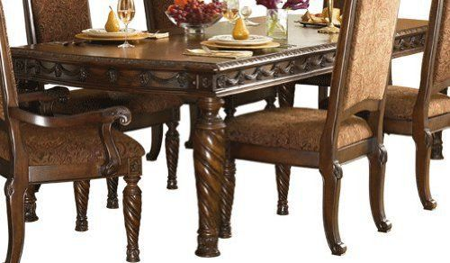 North Shore Dark Brown Dining Room Extension Table By Famous Brand Furniture 1125 23 Opulent Brown Staine Furniture Ashley Furniture Dining Ashley Furniture