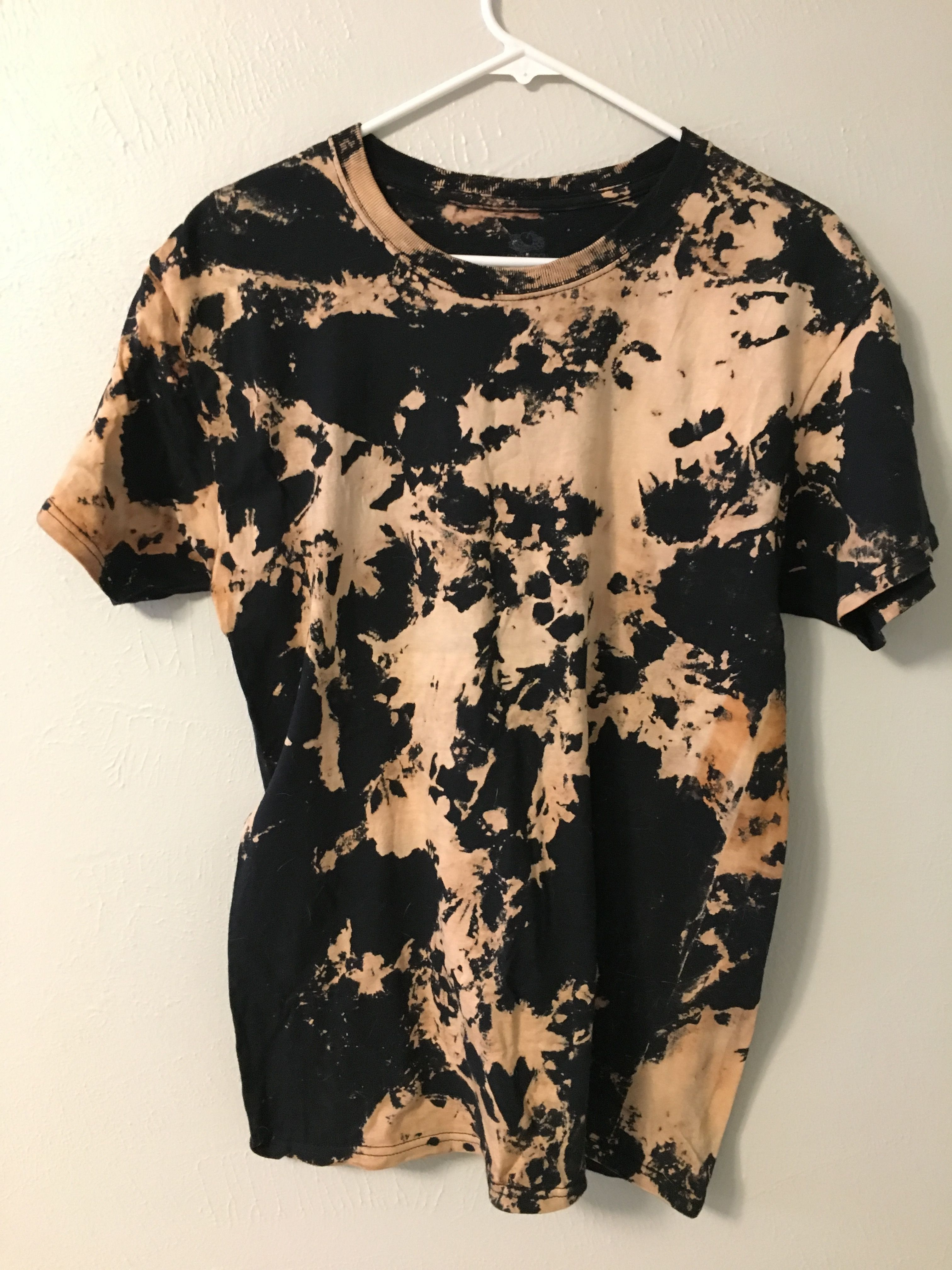 Bleach Shirt Crumble Method Diy Tie Dye Shirts Bleach Dye Shirts Reverse Tie Dye
