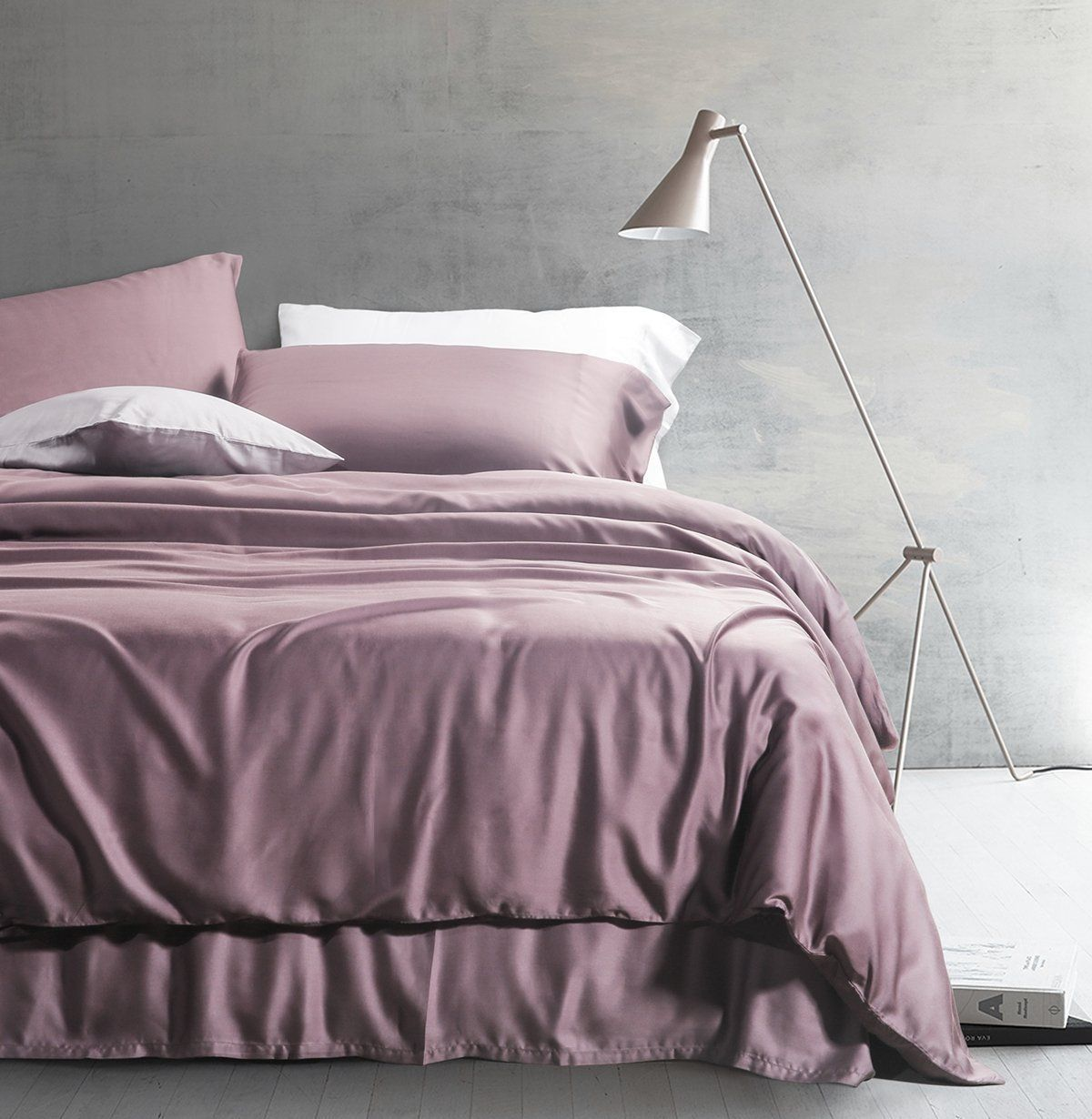 Purple Duvet Cover Solid Color Egyptian Cotton Luxury Bedding Set High Thread Count