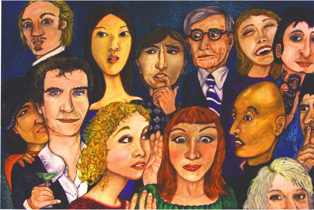 """Gossip Girls"" Acrylic on canvas"