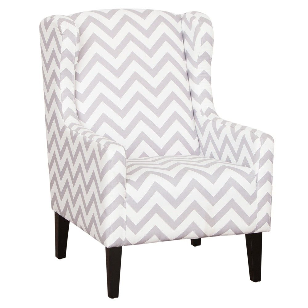Fame Occasional Chair Zigzag Grey Will Be Turned Into A Rocker