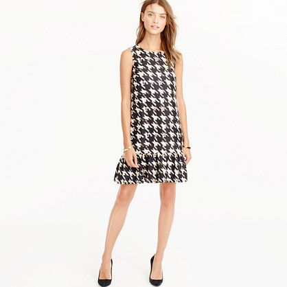 J.Crew+-+Flounce+silk+dress+in+wolfstooth