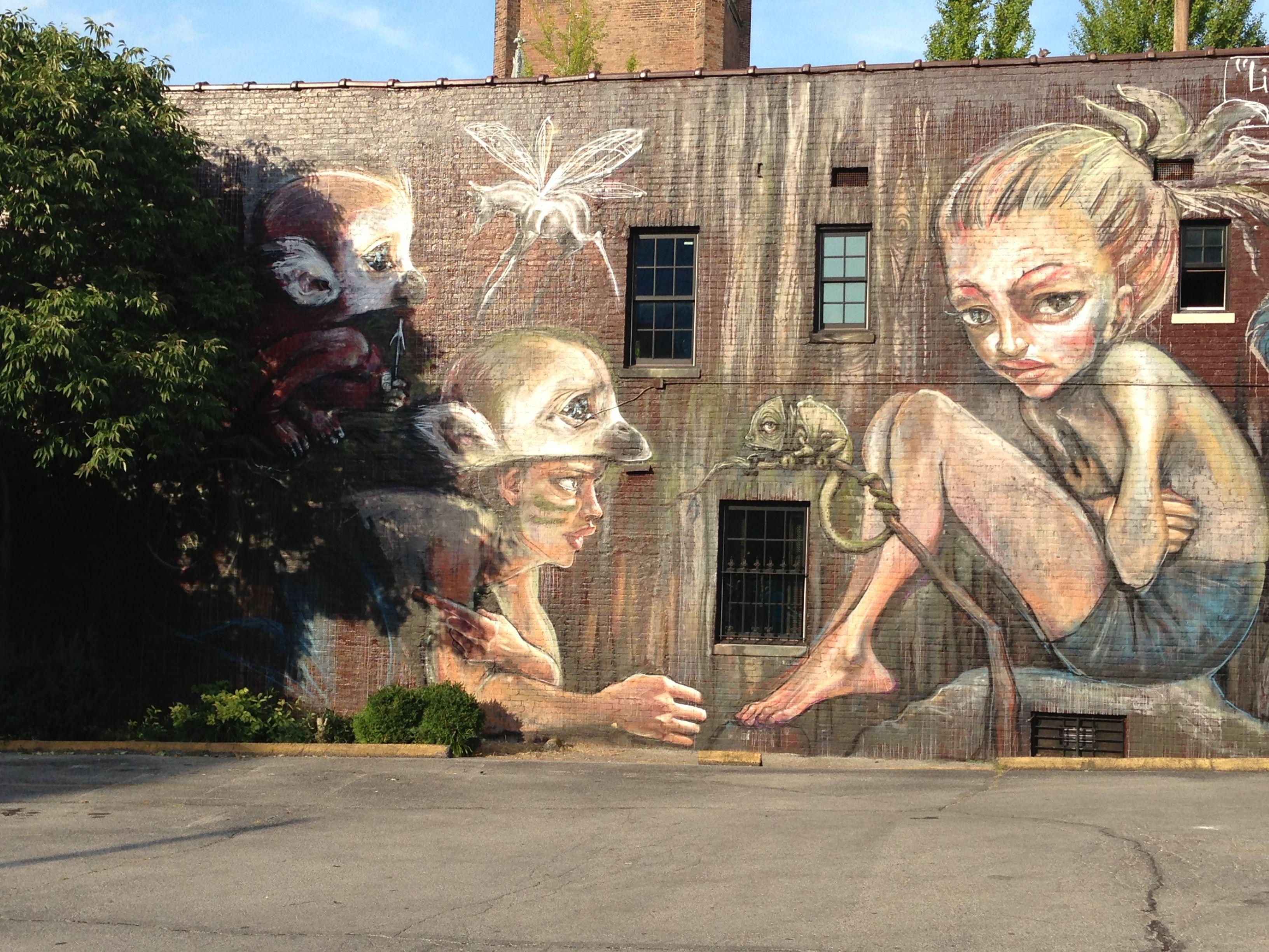 Lexington Ky Lily And The Silly Monkey Art Street Art Art World