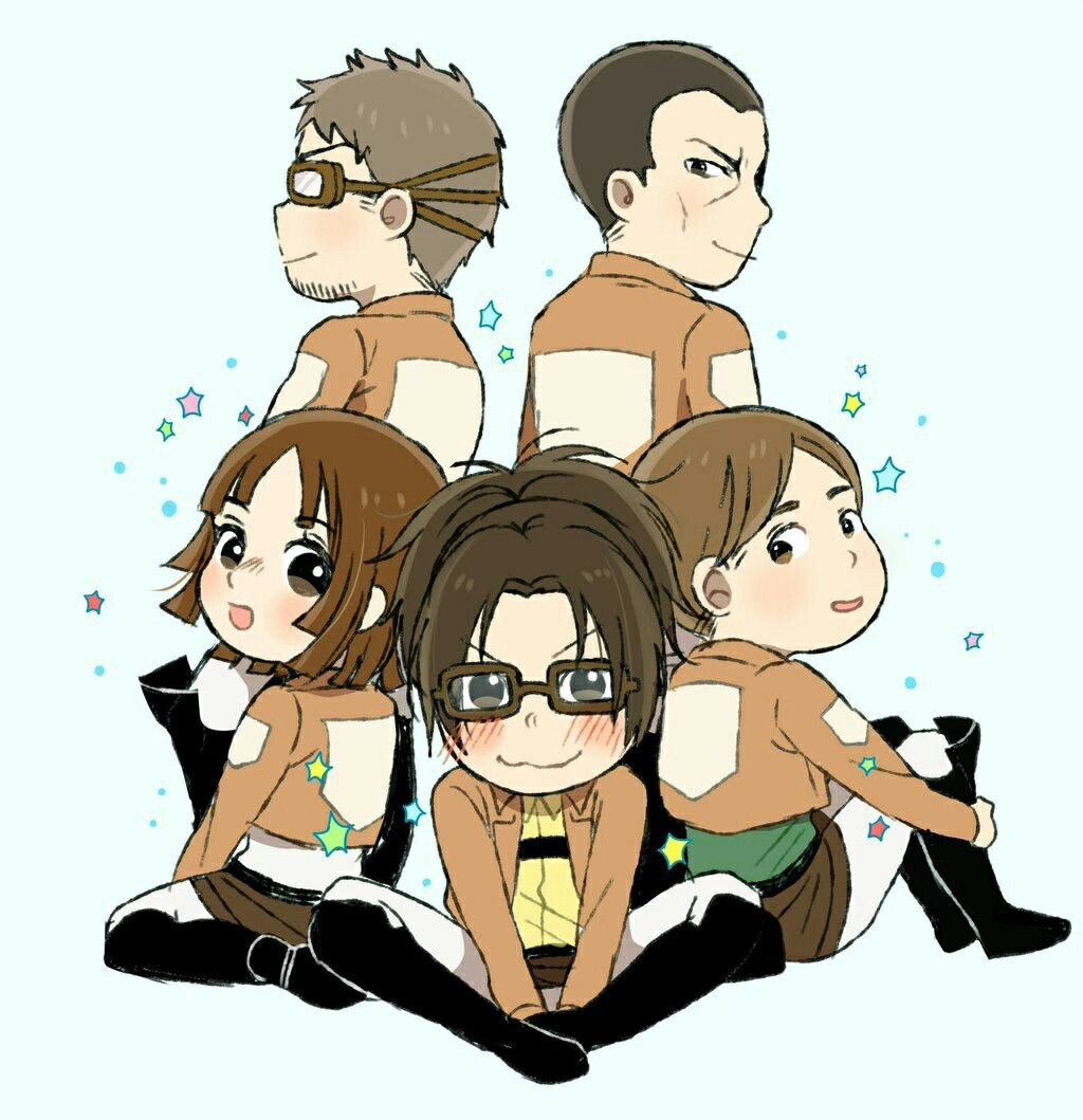 Her squad.... now only her. Attack on titan, Chibi, Anime