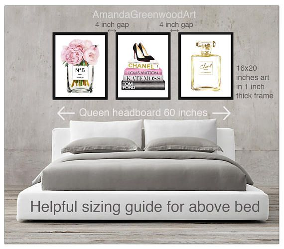 Hanging art over bed guide what size above a queen bed - Over the bed art ...