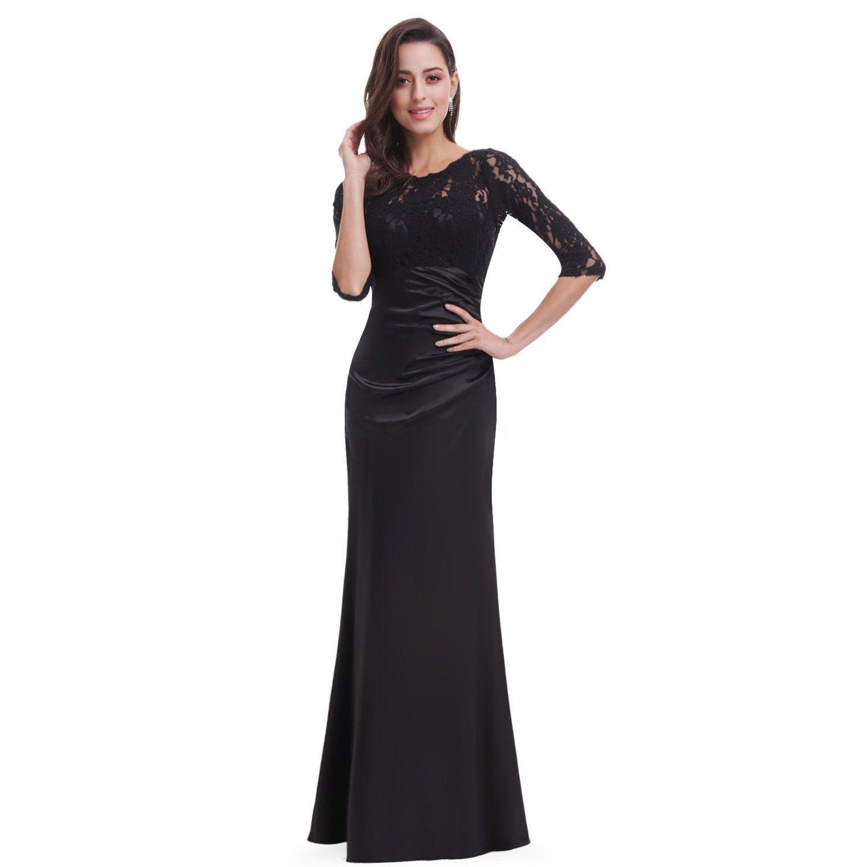 Women evening formal gown prom lace dress everpretty black sz