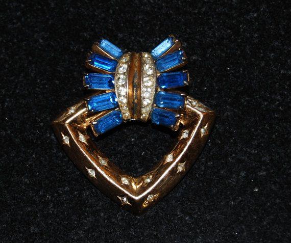 Vintage Coro Craft Pegasus Sterling Silver Blue by Savesitall