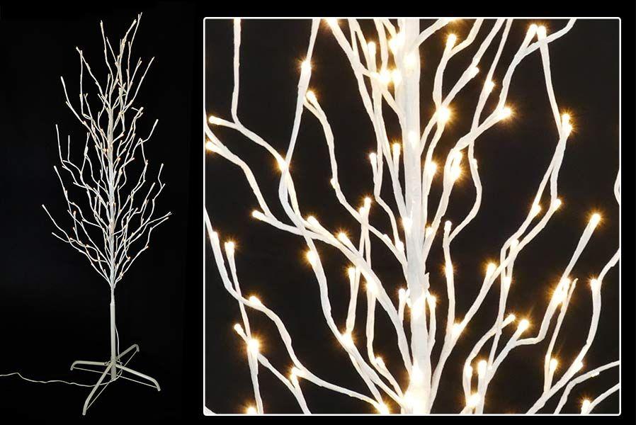lichterbaum wei led baum mit led warmwei beleuchtet. Black Bedroom Furniture Sets. Home Design Ideas