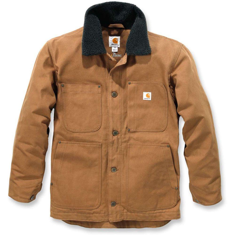 7c819a90d4f23 Carhartt Mens Full Swing Chore Sherpa Lined Duck Shell Jacket Coat | eBay