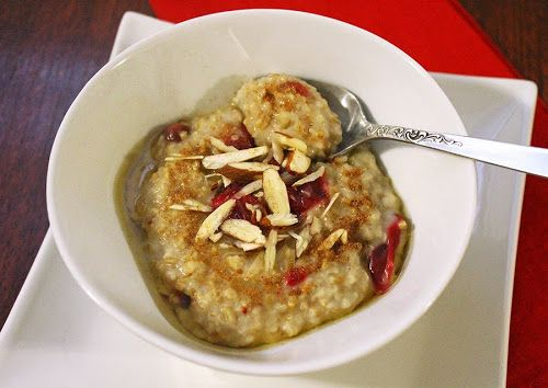 Cranberry & Almond Breakfast Porridge recipe from A-Dash-Of-Tash
