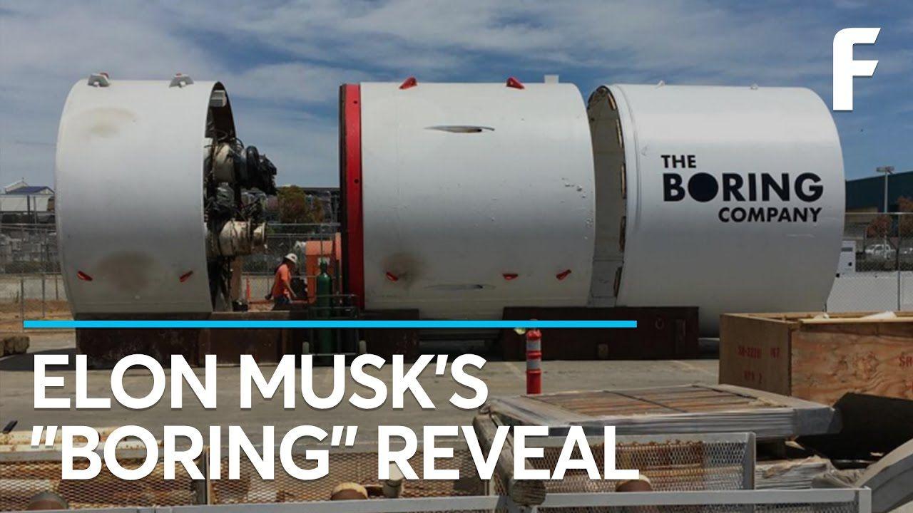 Breaking elon musk has revealed the boring machine musk