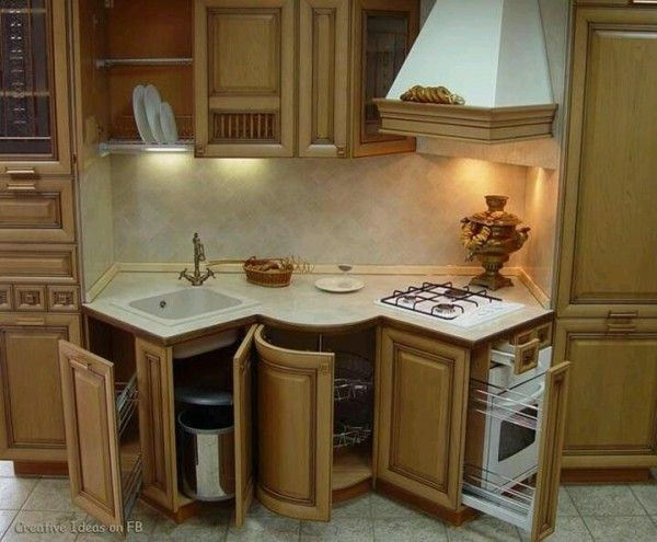 Interesting Compact Kitchen Design Taking A Straight