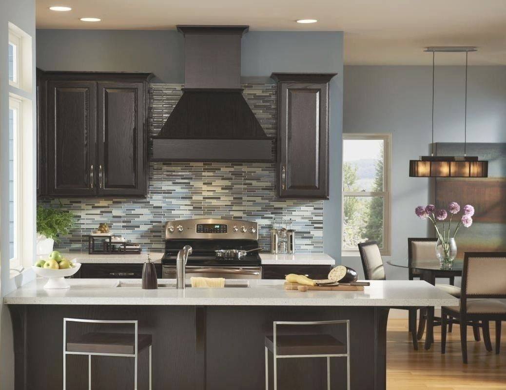 10 Lovable Kitchen Color Ideas With Dark Cabinets Inside Kitchen Color Ideas Dark Cabinets Blue Kitchen Walls Grey Kitchen Walls Modern Kitchen Colours