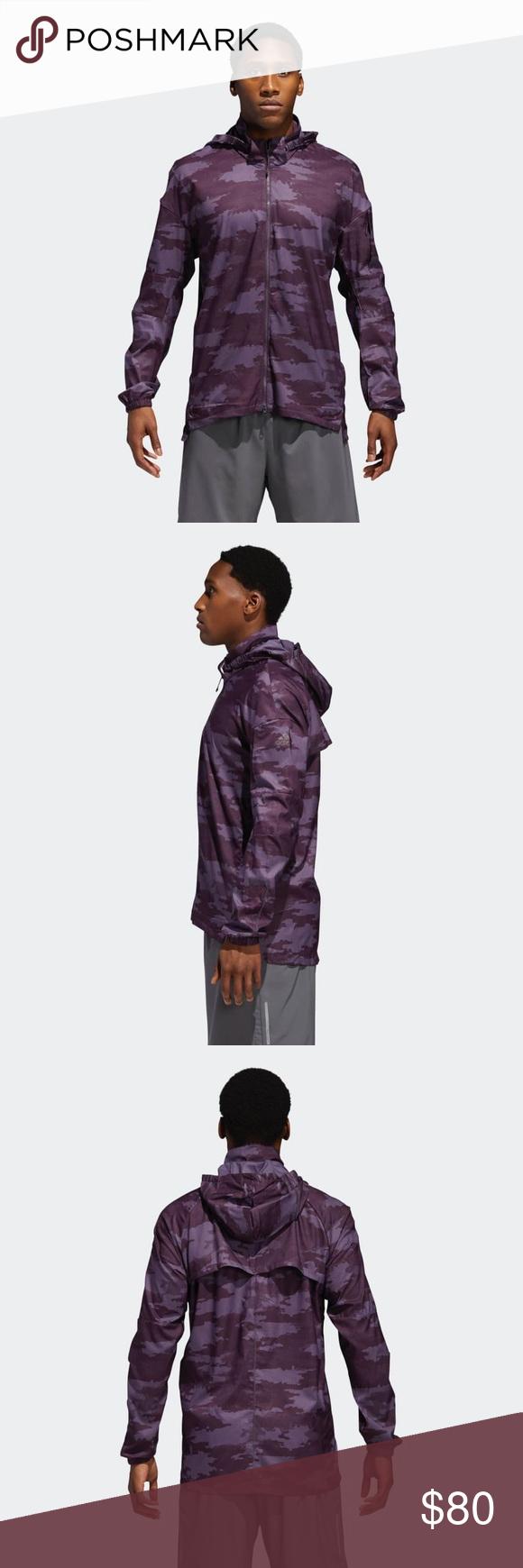 792dc8a913d75 NWT Men s Adidas Supernova TKO DPR Jacket The jacket s water-repellent  coating keeps you dry