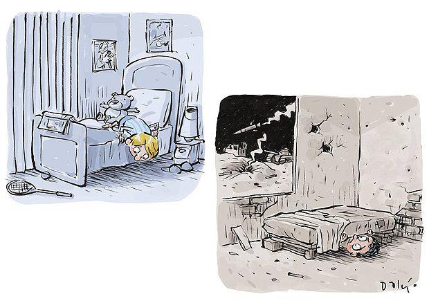 Cartum de Dalcio Machado, vencedor do International Cartoon Festival de Knokke Heist