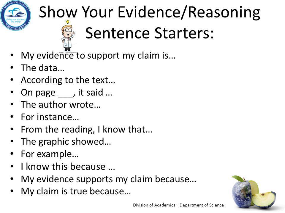sentence starters for essays pdf