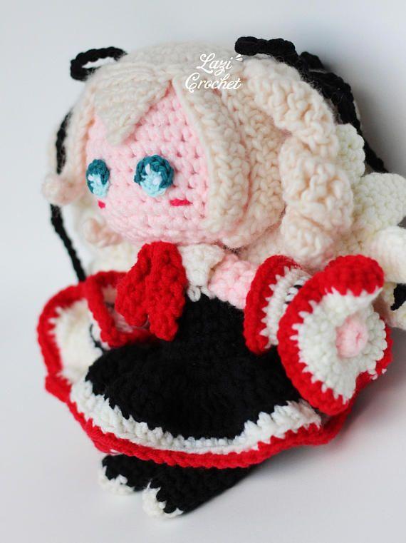 Angie Doll Amigurumi Crochet Pattern Tutorial Kawaii Toy Cute Plush Knit Chart D...  Angie Doll A