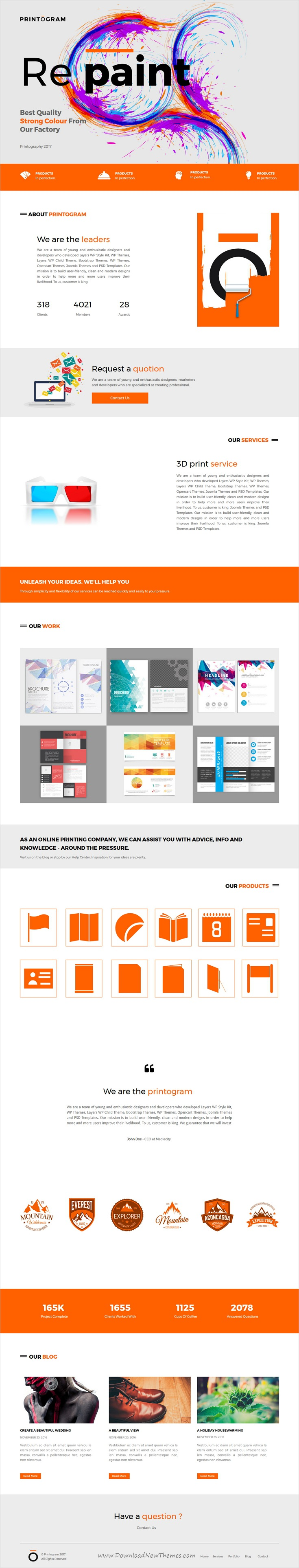 Printogram is clean and modern #design responsive #Unbounce