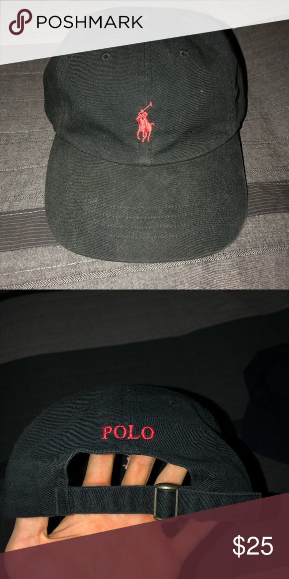 fa5ed3121583b Polo hat Polo Ralph Lauren hat in black worn a few times willing to sell  cheap. Polo by Ralph Lauren Accessories Hats