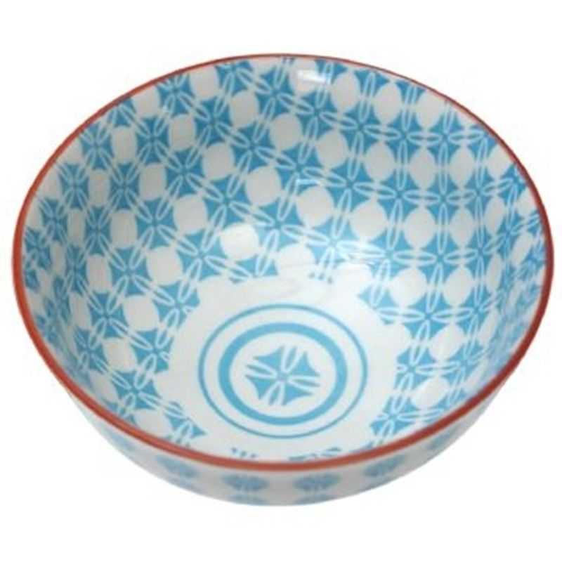 Keramik-Schale Blue Aztec Geschirr weiß hellblau Geschirr - ausgefallene geschirr und bucherschrank designs