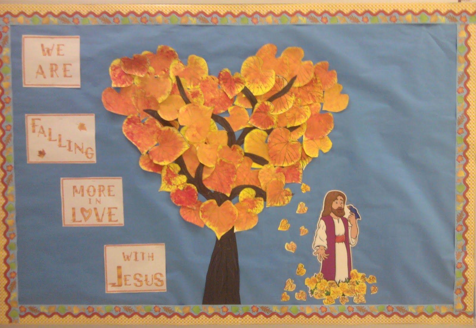 Charlotte S Clips And Kindergarten Kids Christian Fall Bulletin Boards