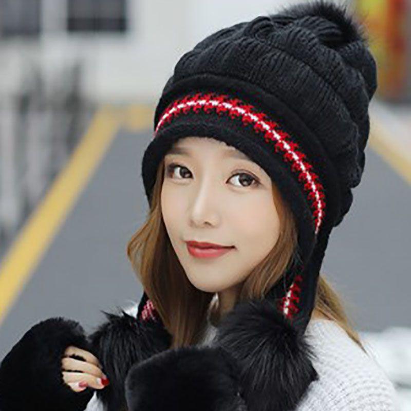 77797dff543 ... Fashion Kick. Thick Warm Manual Wool Knitted Earmuffs Soft Hats Price    22.38   Free Shipping  Earmuffs