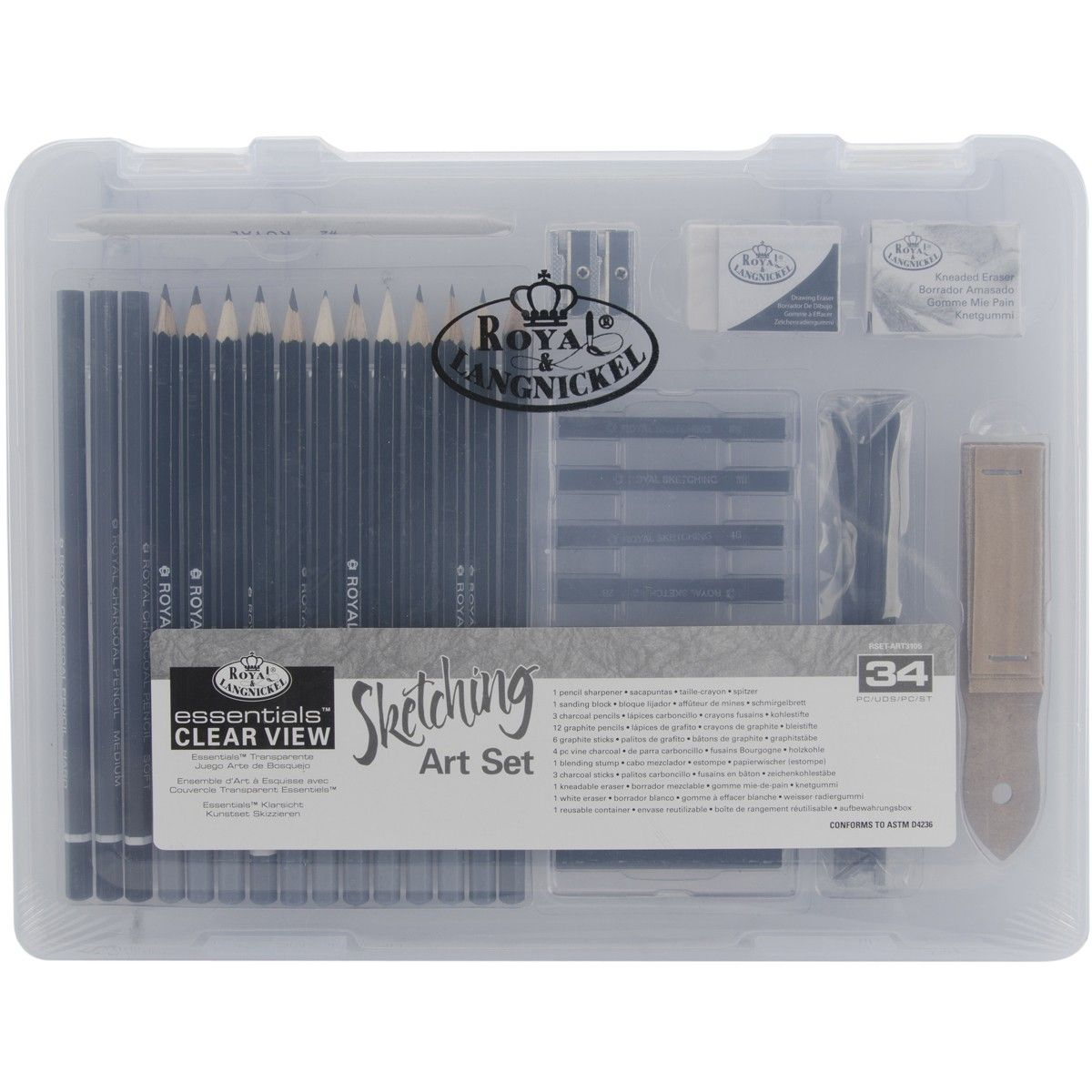 clearview small sketching art set rset3105 19 99 artist gifts