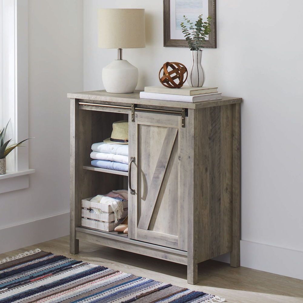 Better Homes Gardens Modern Farmhouse Accent Storage Cabinet Rustic Gray Finish Walmart Com Accent Storage Cabinet Home Decor Decor