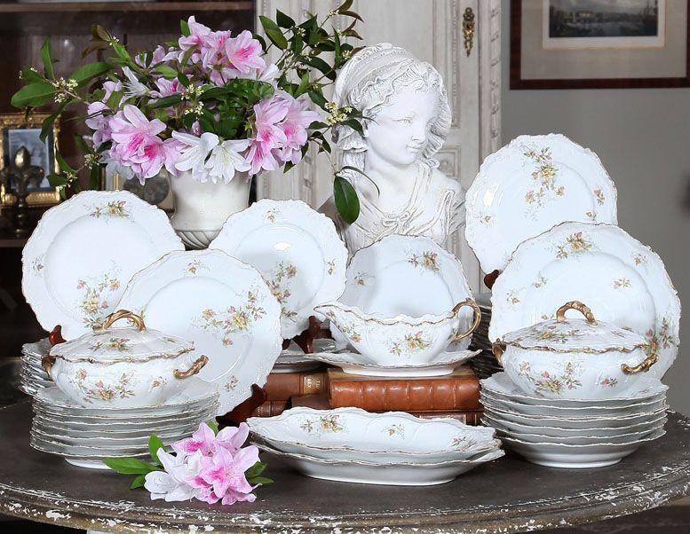 Antique Limoges Porcelain Set   Antique China/Ceramics   Inessa Stewarts Antiques