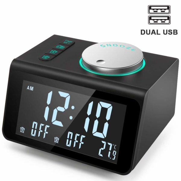 Anjank Charging Temperature Brightness Headphone Have More Varieties Of Sound Top 10 Best Alarm Clocks Revie In 2020 Small Alarm Clock Radio Alarm Clock Alarm Clock