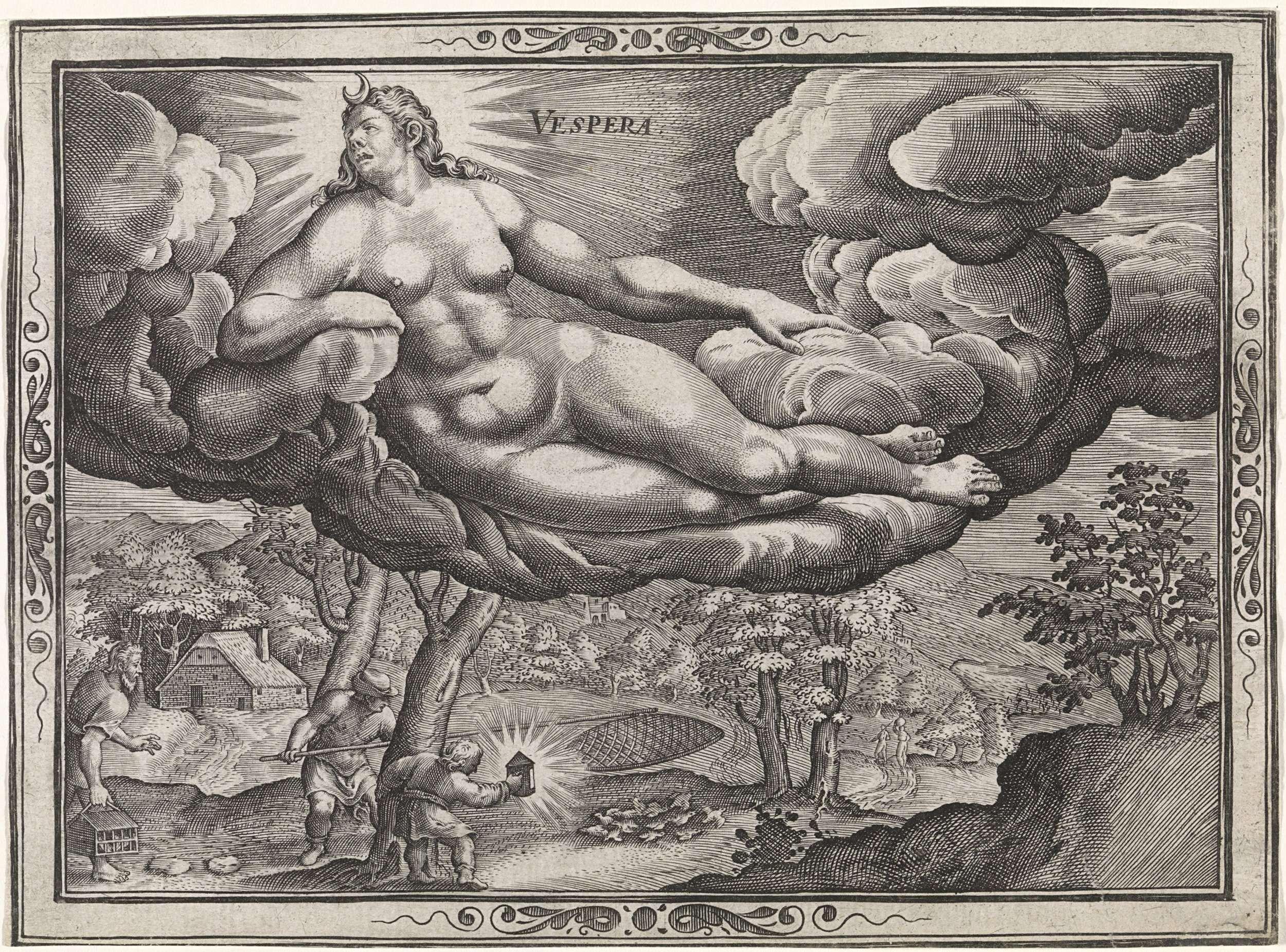 """Vespera"", Anonymous, Johann Sadeler (I), Dirck Barendsz., 1667 - 1736"