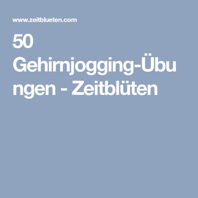 50 gehirnjogging220bungen zeitbl252ten demenz gehirn