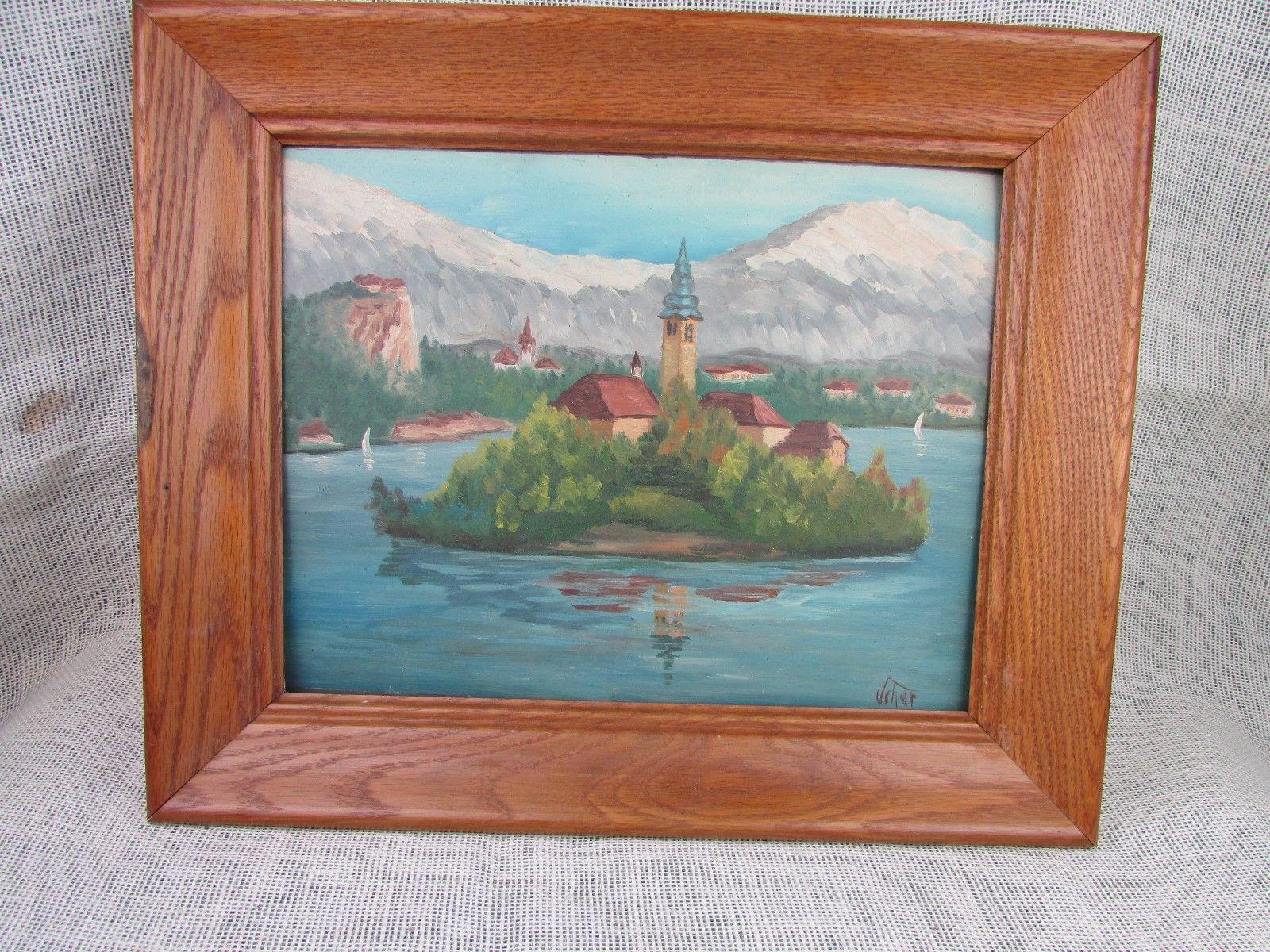 "Original oil on board painting Lake Bled Slovenia - Artist signed 11""x14"" https://t.co/e50fDZQmLd #Homedecor https://t.co/16RgwaJlGe"