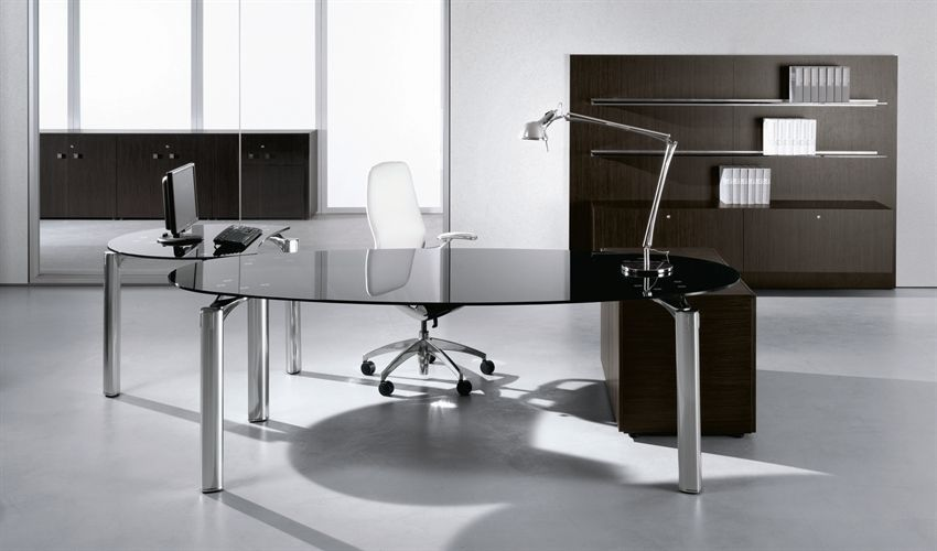 Glass Top Contemporary Office Desks All Contemporary Design Modern Glass  Office Desk