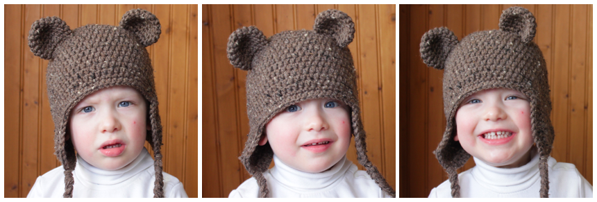FREE Crochet Pattern - Bear Ears to add to any hat (w  link to earflap hat  tutorial - Newborn to Adult Sizes). 803f4e0b3927