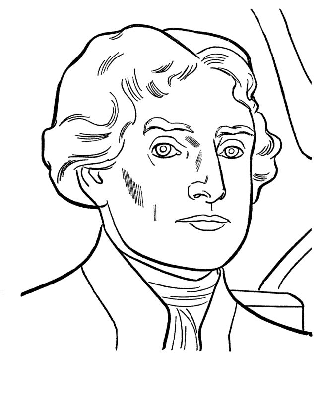 Thomas Jefferson 3rd President Coloring Pages