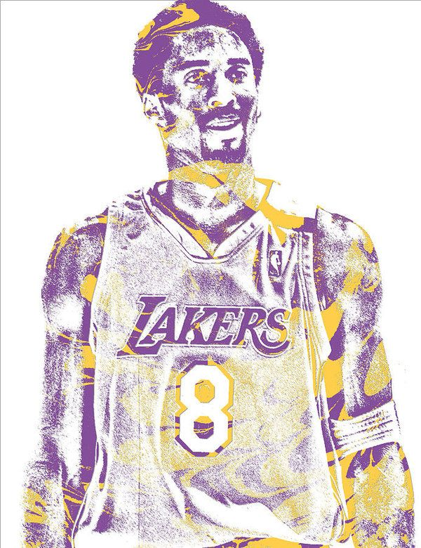 Kobe Bryant Los Angeles Lakers Pixel Art 28 Art Print by Joe Hamilton