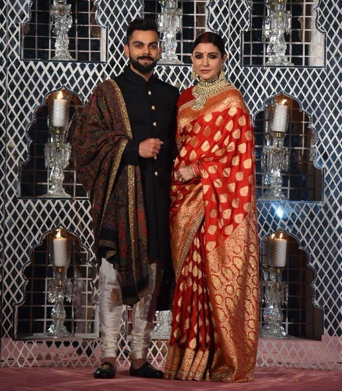 15 Brides Who Wore Sarees For Their Reception- 2019 Trends ...