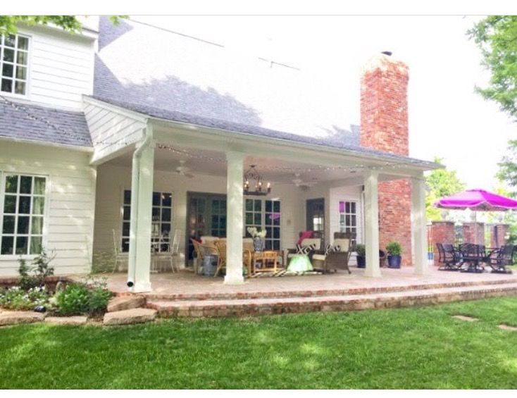 Covered back porch …   Patio remodel, Back porch designs ... on Covered Back Porch Ideas id=11219