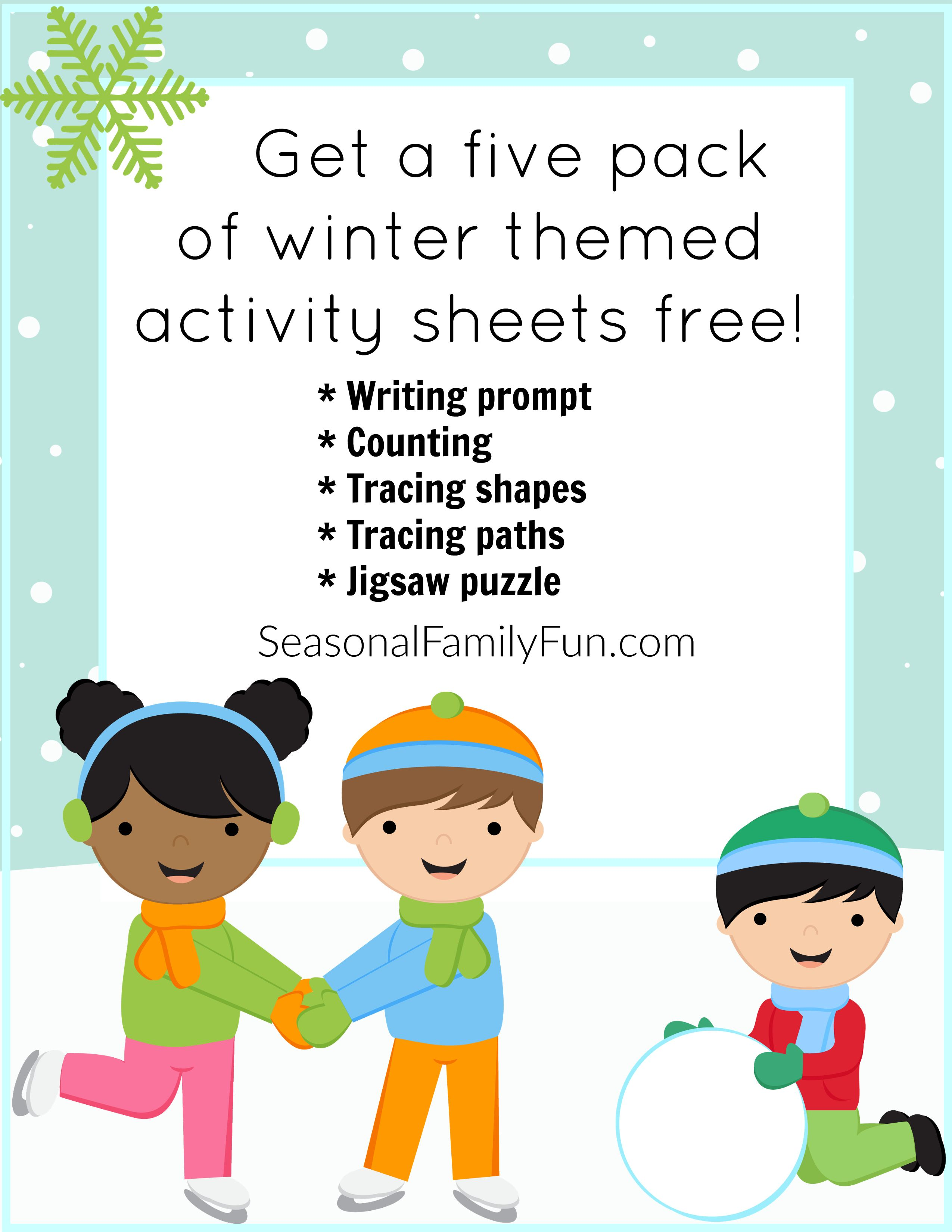 Winter Themed Activity Sheets