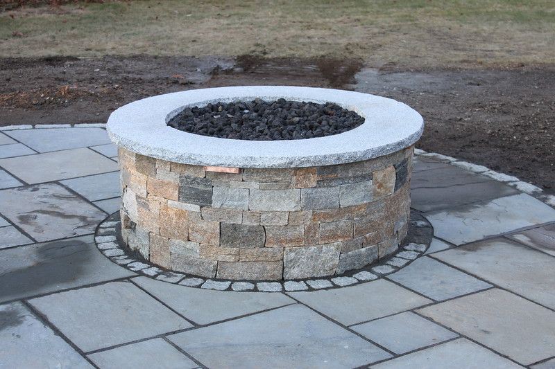 Boston Blend Ledgestone Stone Fire Pit Paver Fire Pit Round Fire Pit