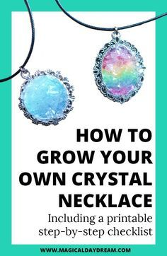 How To Grow Your Own Crystal Necklace Grow Your Own