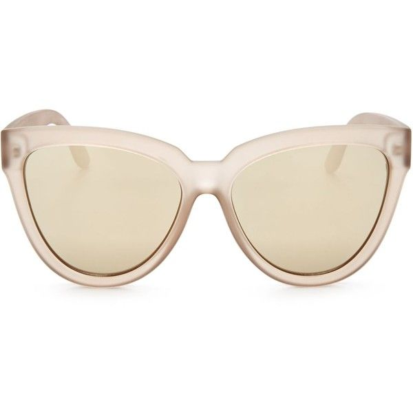 Le Specs Liar Liar Cat Eye Sunglasses, 57mm (¥7,180) ❤ liked on Polyvore featuring accessories, eyewear, sunglasses, cat-eye glasses, matte glasses, le specs sunglasses, matte sunglasses and le specs