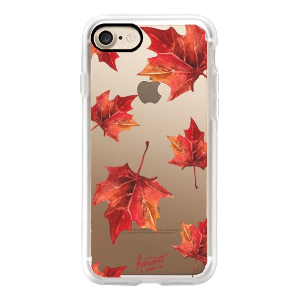 FALL AUTUMN LEAVES OCTOBER FOLIAGE by Harvest Paper Co- - iPhone 7... ($40) ❤ liked on Polyvore featuring accessories, tech accessories, iphone case, iphone cover case, iphone cases, apple iphone cases and slim iphone case